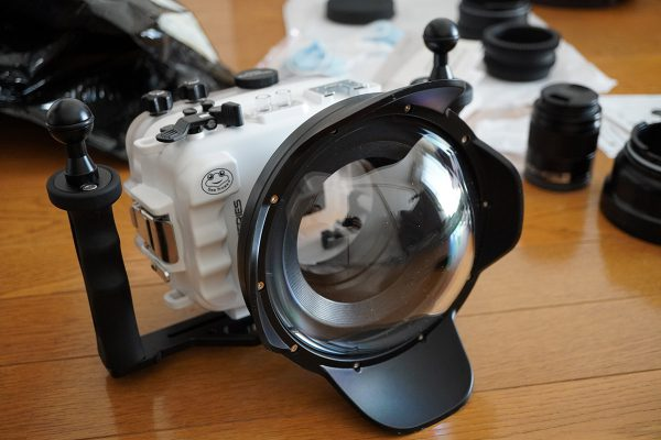 SeaFrogs Sony A6xxx series Salted Line housing(防水カメラハウジング1