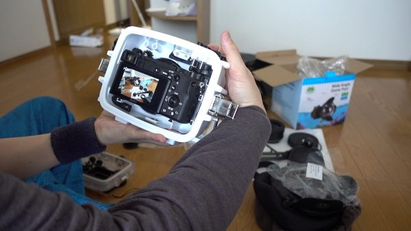 SeaFrogs Sony A6xxx series Salted Line housing(防水カメラハウジング13