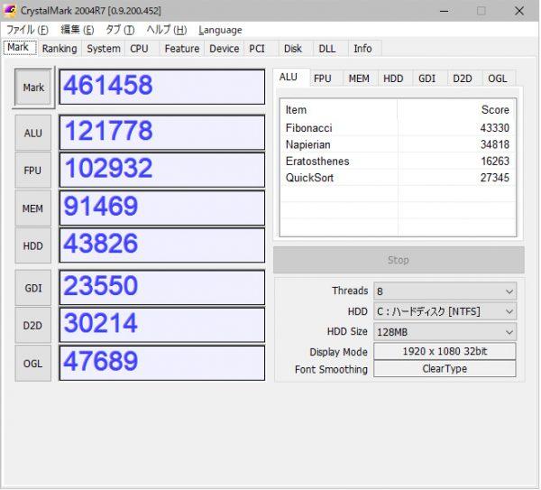 Corei76700kベンチ